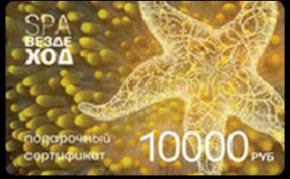 Подарочный сертификат СПА-Вездеход 10000
