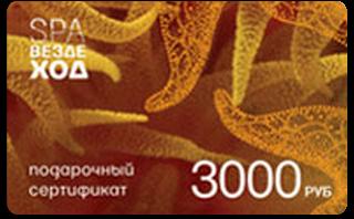 Подарочный сертификат СПА-Вездеход 3000